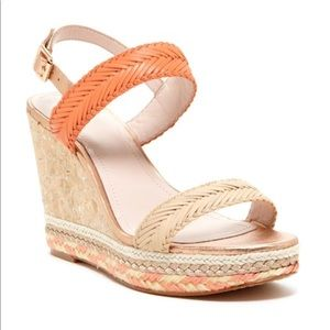 Vince camuto coral woven tazma wedges sz 6.5